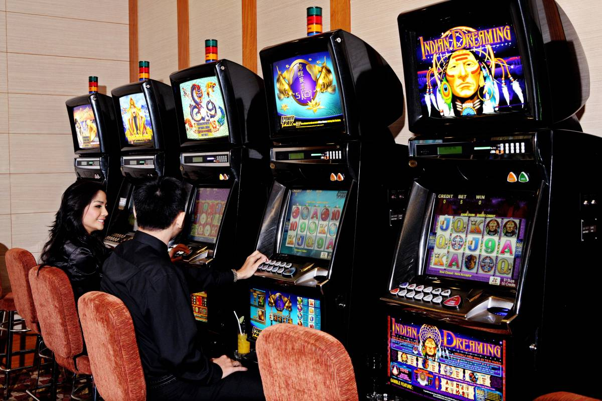 Slot machine in the casino in Grand hotel