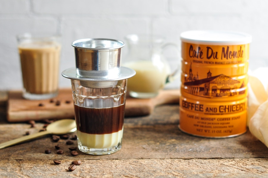 Traditional Vietnamese coffee filter (coffee phin)