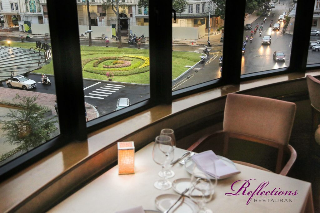 Reflections restaurant view to Lam Son square